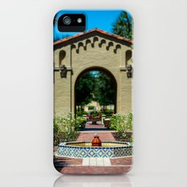 Courtyard Fountain Rollins College Winter Park Central Florida Orlando iPhone Case