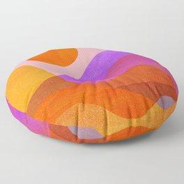 Abstraction_OCEAN_Beach_Wave_Minimalism_001 Floor Pillow