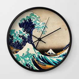 The Great Wave Off Kanagawa Traditional Japanese Landscape Wall Clock