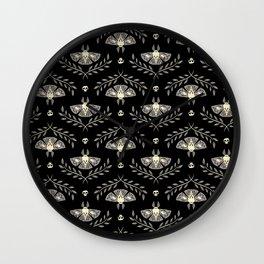 Spooky Moths Wall Clock