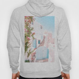 Santorini Greece Mamma Mia Pink House Travel Photography in hd. Hoody