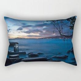 Tardis On The Sea Stone Rectangular Pillow