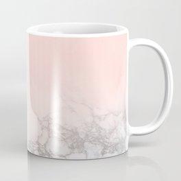 Blush Pink on White and Gray Marble III Coffee Mug
