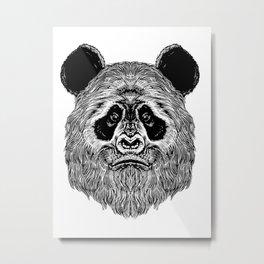 Bigfoot Panda Metal Print