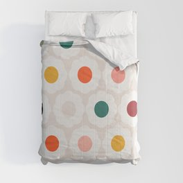 Retro Florals Pattern no6 Comforters