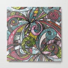Drawing Floral Zentangle G203 Metal Print