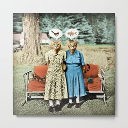 Two Cool Kitties: What's for Lunch? Metal Print