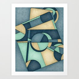 Mid Century Modern Abstract Composition Art Print