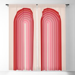 Gradient Arch - Pink / Red Tones Blackout Curtain