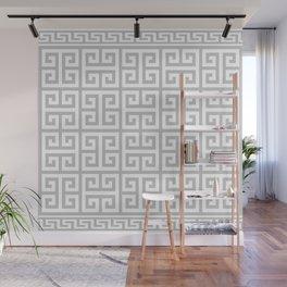 Greek Key (Gray & White Pattern) Wall Mural