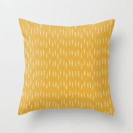 Raindrop Abstract Boho Pattern, Yellow Throw Pillow