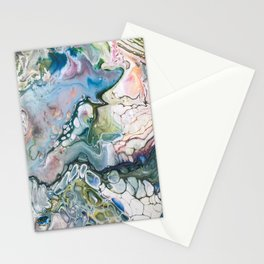 Sea and Land Acrylic Abstract Painting Stationery Cards
