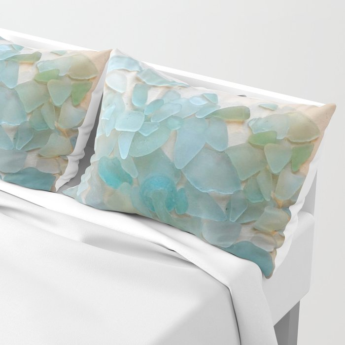 Ocean Hue Sea Glass Kissenbezug