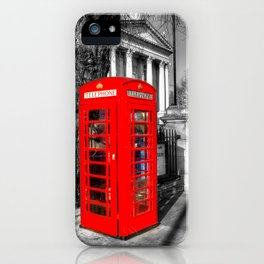 London Red Telephone Box iPhone Case