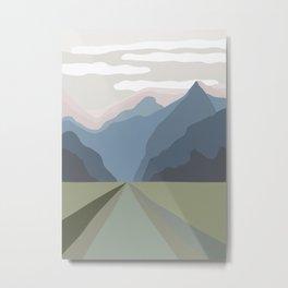 The Mountain Road III Metal Print