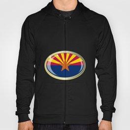Arizona State Flag Oval Button Hoody