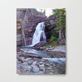 Baring Falls, Montana, Glacier National Park Waterfall Metal Print