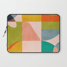 mid century abstract shapes spring I Laptop Sleeve