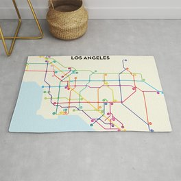Los Angeles Freeway System Rug