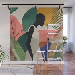 Tropical Girl Wall Mural