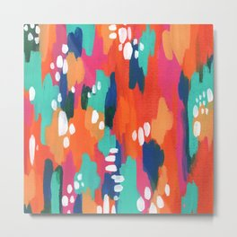Abstract Warm Turquoise Dream Metal Print