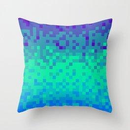 Pixel color Throw Pillow