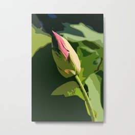 Waterlily Bud Abstract Metal Print