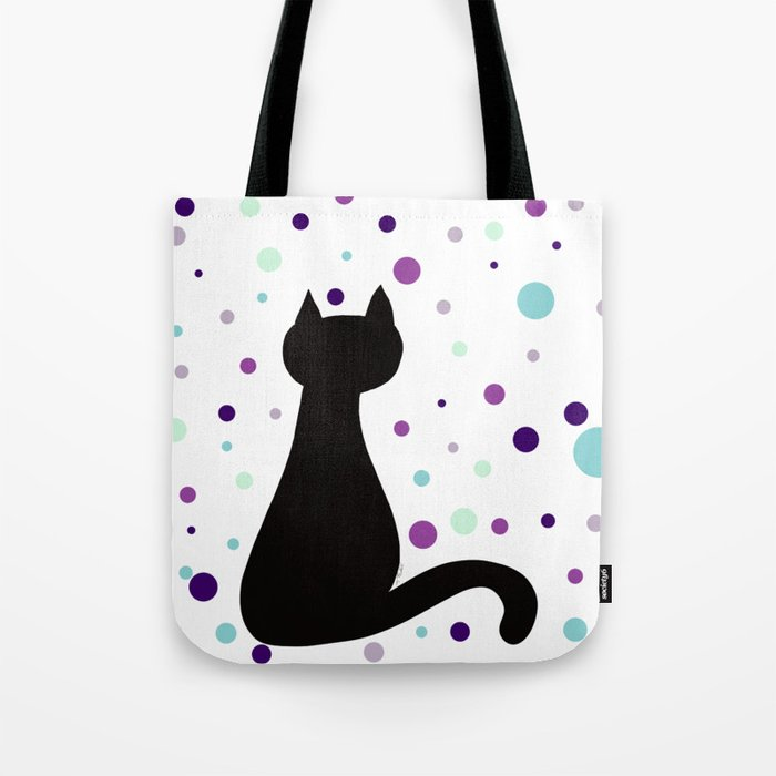 Black Cat Party! Tote Bag