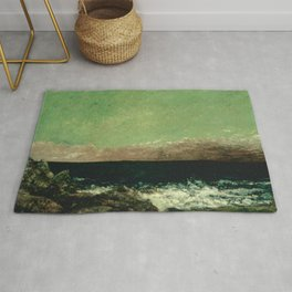 "Gustave Courbet ""The Mediterranean"" Rug"