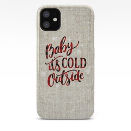 Baby It's Cold Red Buffalo Plaid iPhone Case