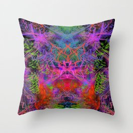 Violet Scratches Relieve Tension Throw Pillow