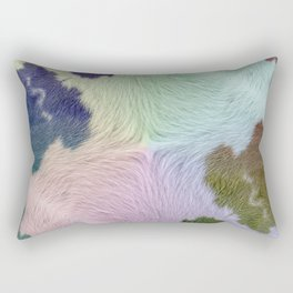 Rainbow Country Rustic Cowhide Rectangular Pillow