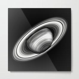 Saturn and Rings Metal Print