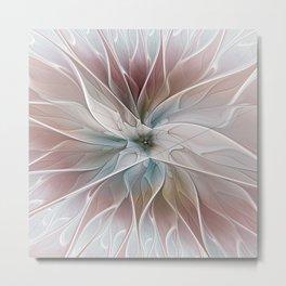 A Floral Friend, Abstract Fractal Art Metal Print