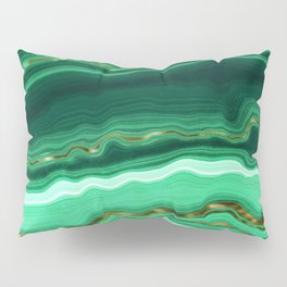 Gold And Malachite Marble Pillow Sham