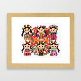 Mexican Dolls Framed Art Print