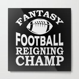 Fantasy Football American Football Player Metal Print