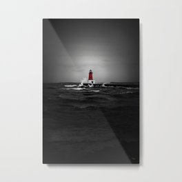 Lighthouse Glow Metal Print