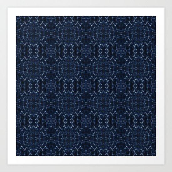 Indigo blue tie-dye pattern by annaki