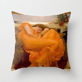 Flaming June, Frederic Leighton Throw Pillow