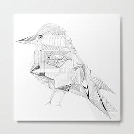Geometric Architectural Bird-01 Metal Print