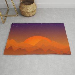 Slumbering Hills, Southwestern Landscape Art Rug