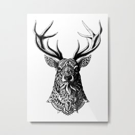 Ornate Buck Metal Print