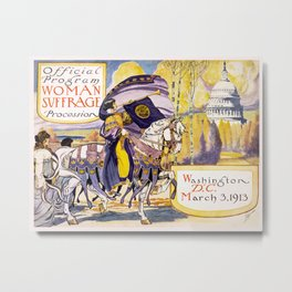 1913 Women's rights march Washington Metal Print