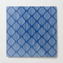 Prussian Blue Ogee Metal Print
