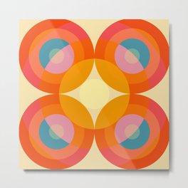 Gwyddno - Colorful Abstract Blossom Art Metal Print