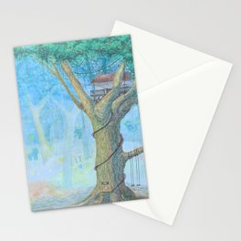 a tree house Stationery Cards