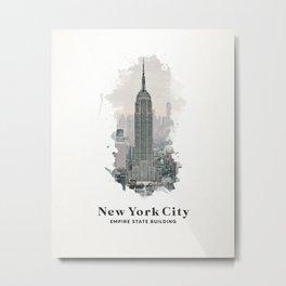 New York City Empire State Building Metal Print
