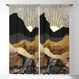 Copper and Gold Mountains Blackout Curtain