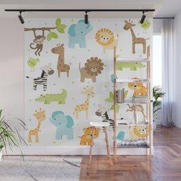 Jungle Animals Wall Mural